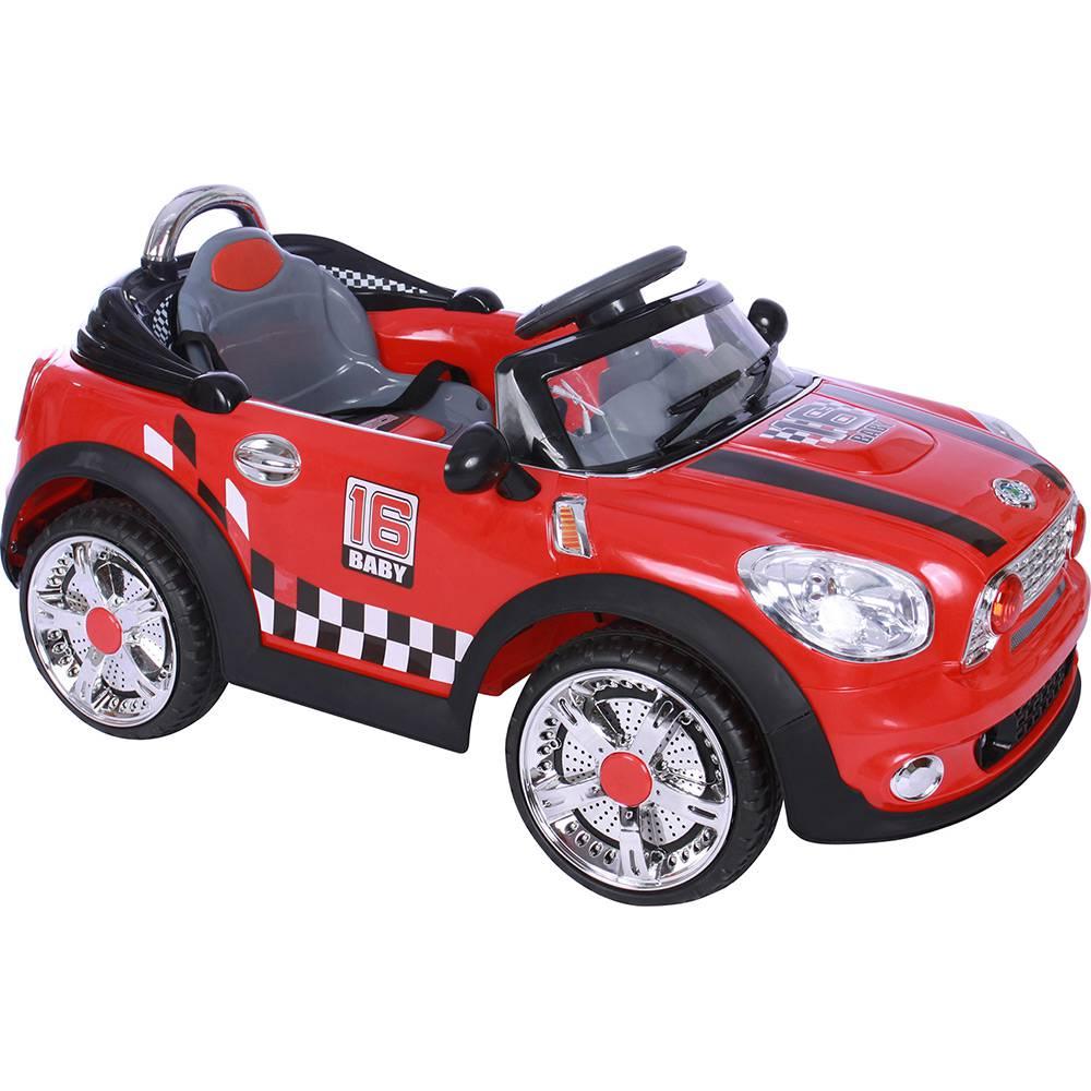 Carro Elétrico Infantil Mini Cooper Conversível Vermelho 6V II - BelFix