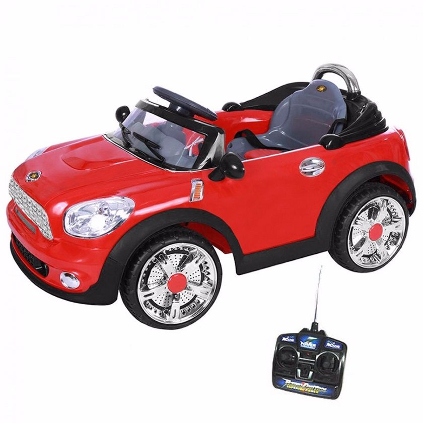 Carro Elétrico Infantil Mini Cooper Conversível Vermelho 6V (912300) - BelFix