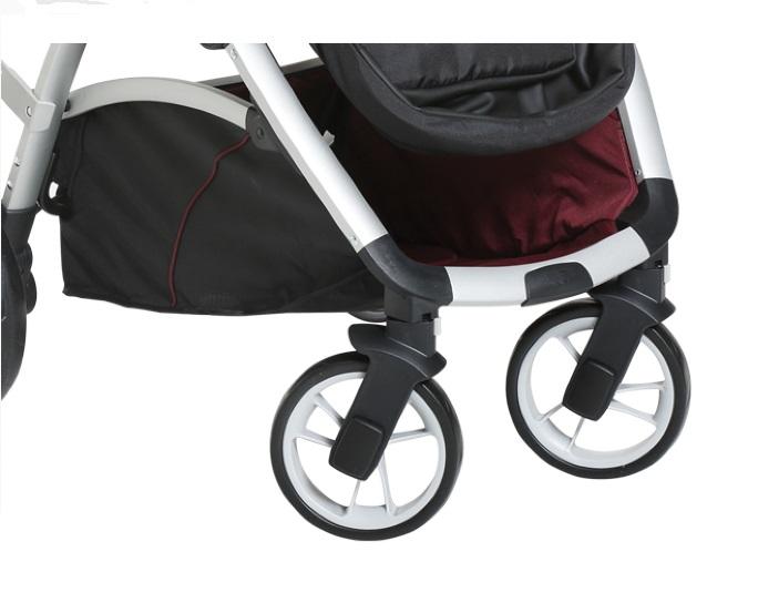 Carrinho de Passeio Maly com Bebê Conforto e Base Preto / Vinho - Dzieco
