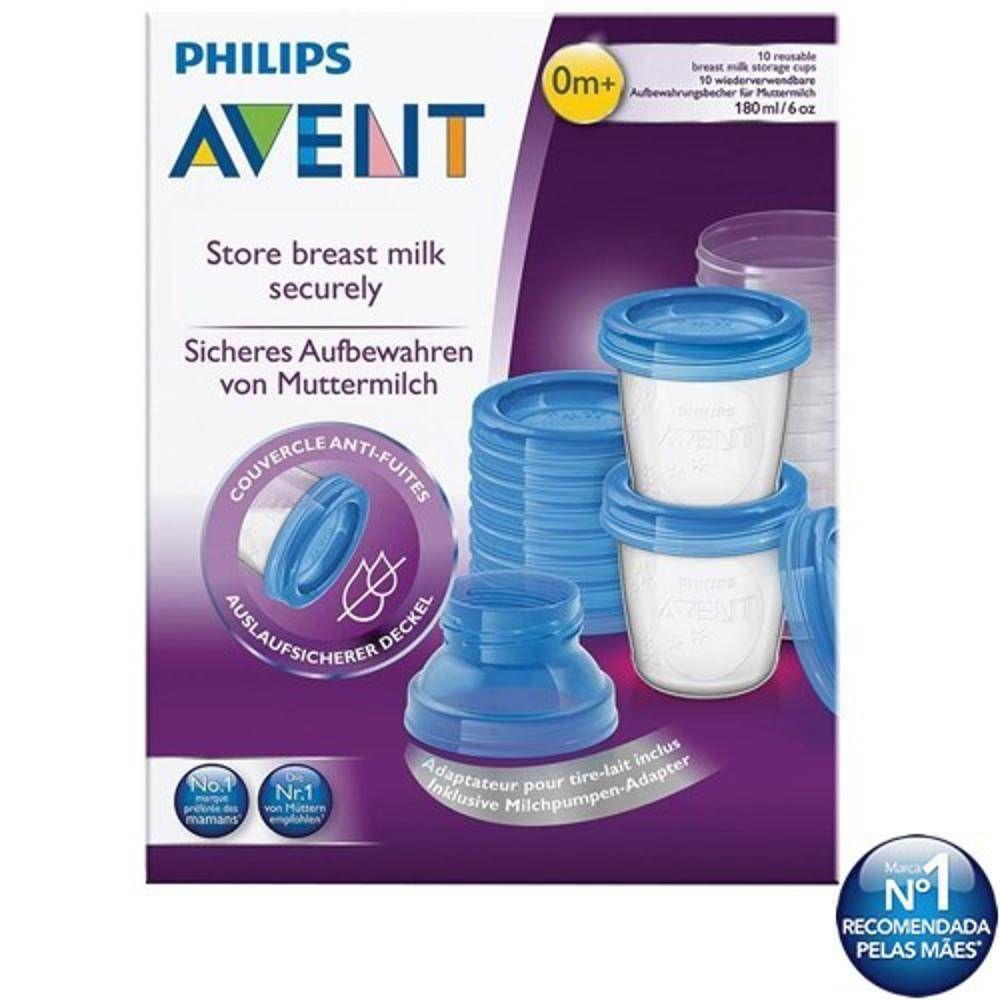 Copo Para Armazenamento De Leite Materno Philips Avent Kit C/ 10 Unidades - Avent