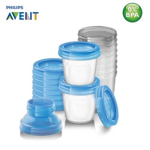 Esterilizador + kit copos p/ armazenamento de leite Philips - Avent