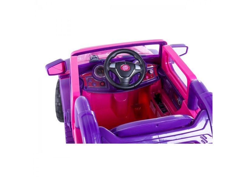 Jipe Elétrico Rali Rosa/Pink 12v com controle remoto - Belfix