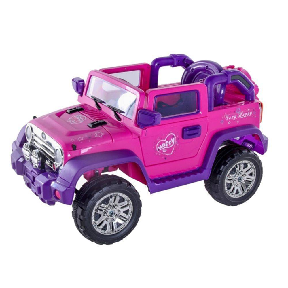 Jipe Elétrico Rally Rosa/Pink 12v com controle remoto - Belfix