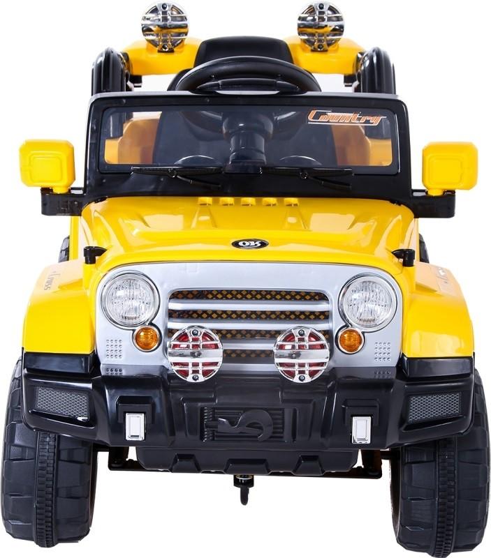 Jipe Trilha Elétrico Infantil com Controle Remoto Amarelo - BelFix