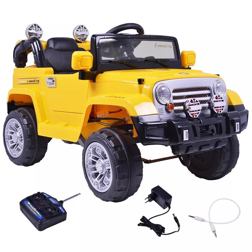 Jipe Trilha Infantil com Controle Remoto Amarelo 12v - BelFix