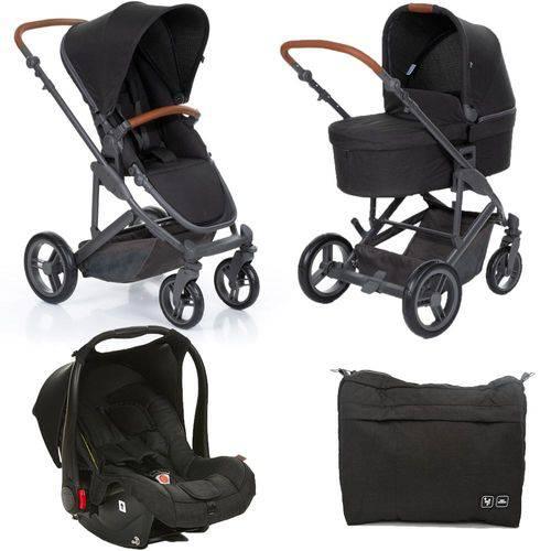 Kit Carrinho com Bebê Conforto e Moisés COMO4 Woven Black (Preto) - ABC Design