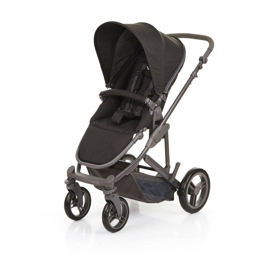 Kit Carrinho com Bebê Conforto e Moisés COMO4 Wover Black (Preto) - ABC Design