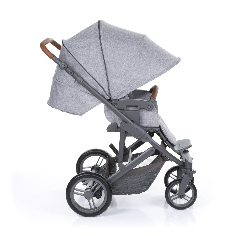Kit Carrinho Merano + Bebê Conforto Risus + Shop Bag Woven Grey - ABC Design