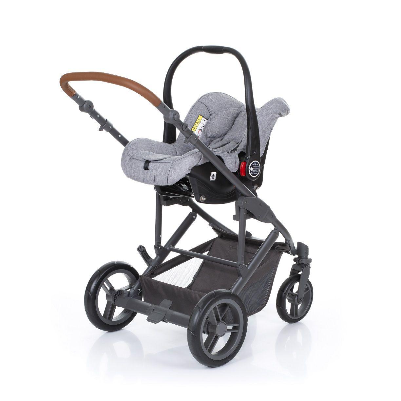 Kit Carrinho Merano + Moisés + Bebê Conforto Risus + Shop Bag Woven Grey - ABC Design