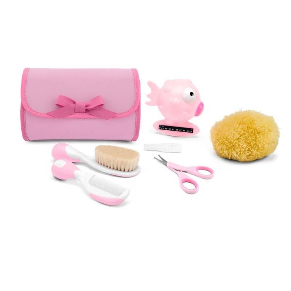 Kit Conjunto De Higiene Menina Rosa - Chicco