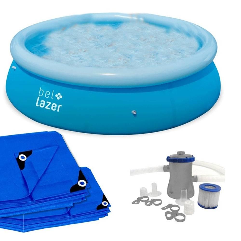 Kit Piscina Inflável Bel Life 4.600 L + Capa + Forro + Filtro 110v - Bel Lazer