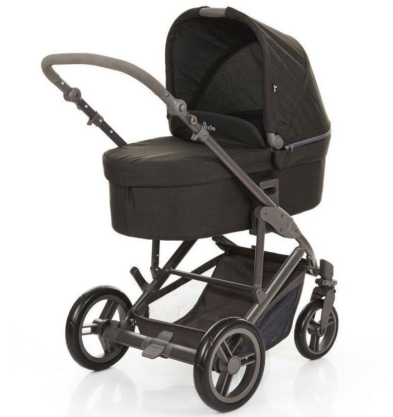 Kit Trio Travel System + Moisés COMO4 Wover Black (Preto) - ABC Design