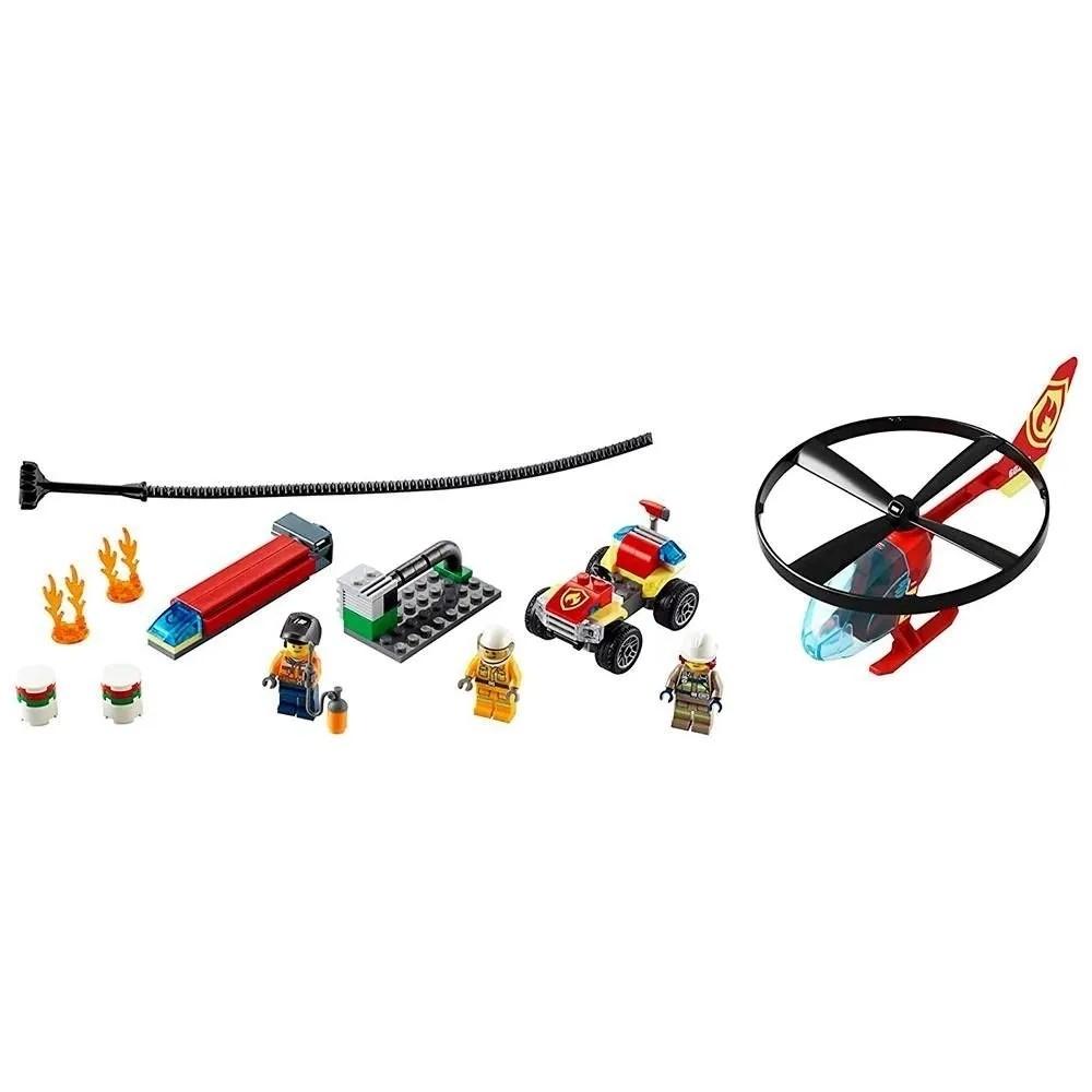 LEGO COMBATE AO FOGO COM HELICOPTERO (60248) - LEGO