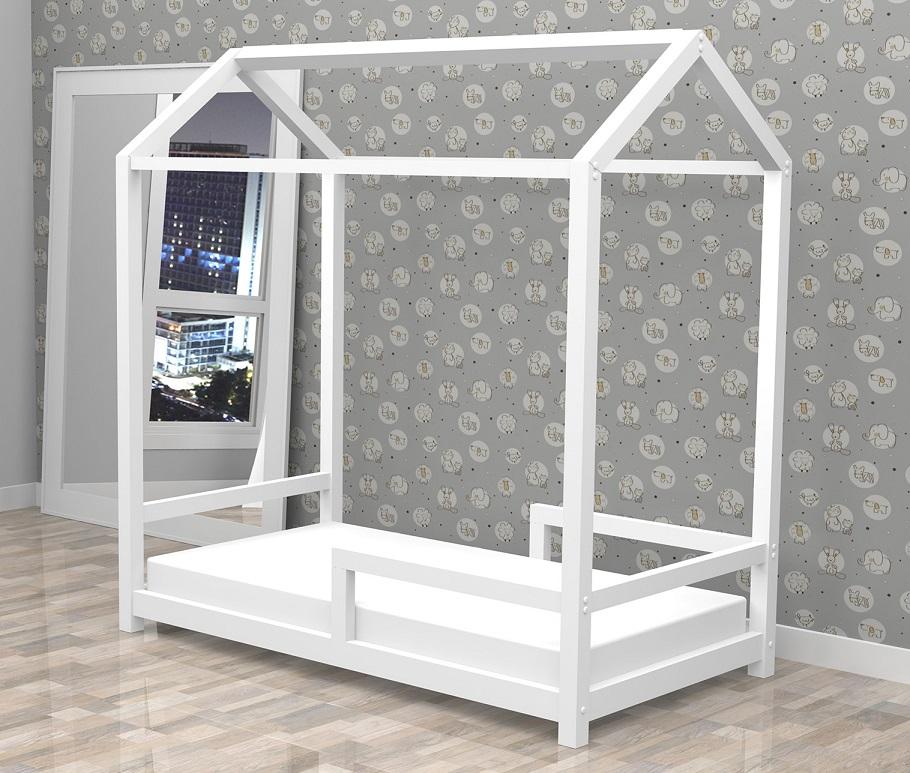 Mini Cama Montessoriano Branco Acetinado - Atual Móveis