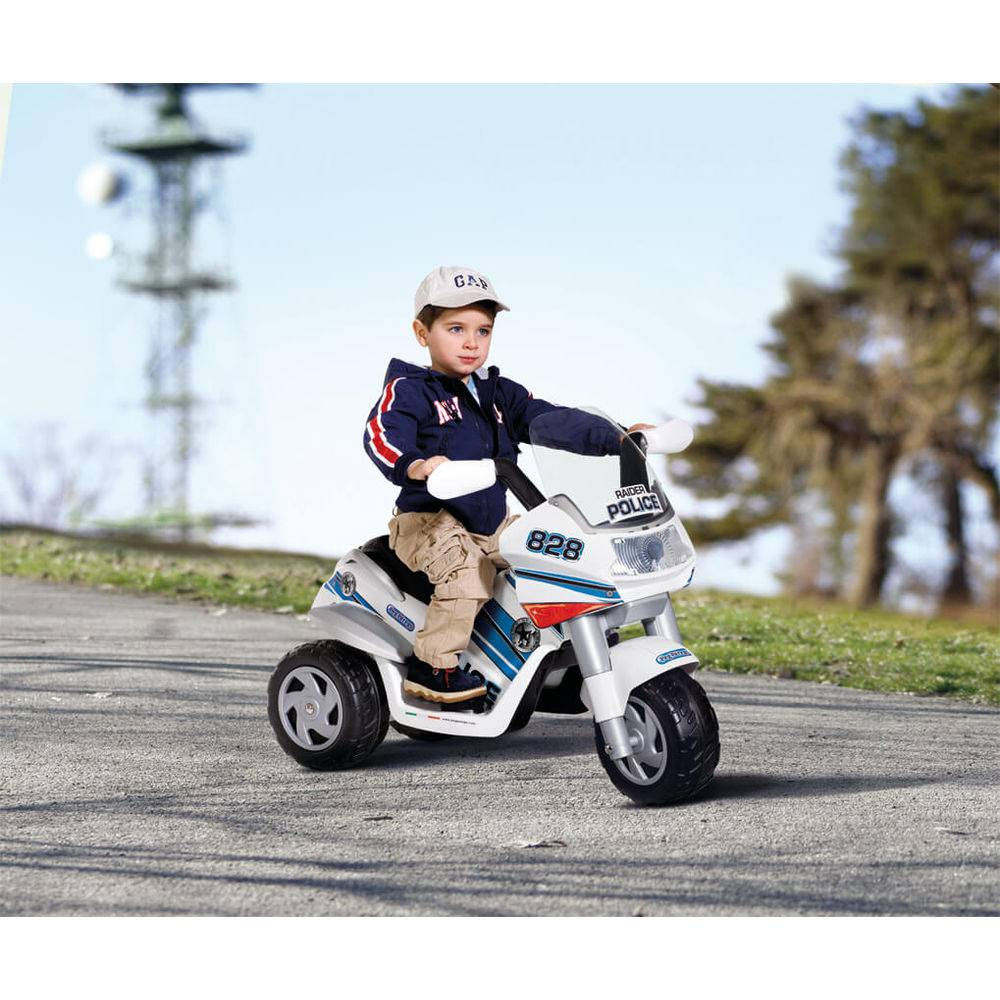 Mini Moto Elétrica Raider Polícia - Peg Pérego