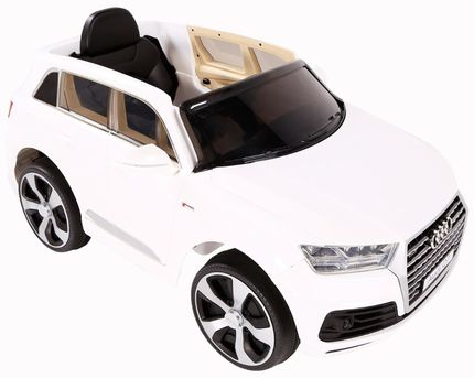 Mini Veículo Elétrico Audi Q7 SUV (Branco) R/C 12V - Belfix