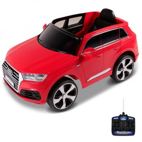 Mini Veículo Elétrico Audi Q7 SUV (Vermelho) R/C 12V - Belfix