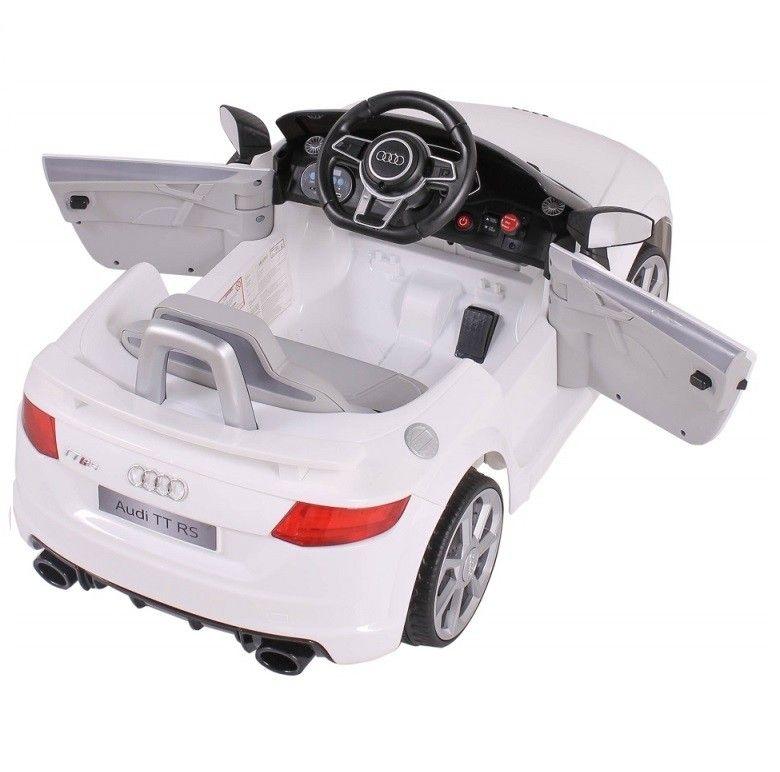Mini Veículo Elétrico Audi TT RS (Branco) R/C 12V II - Belfix