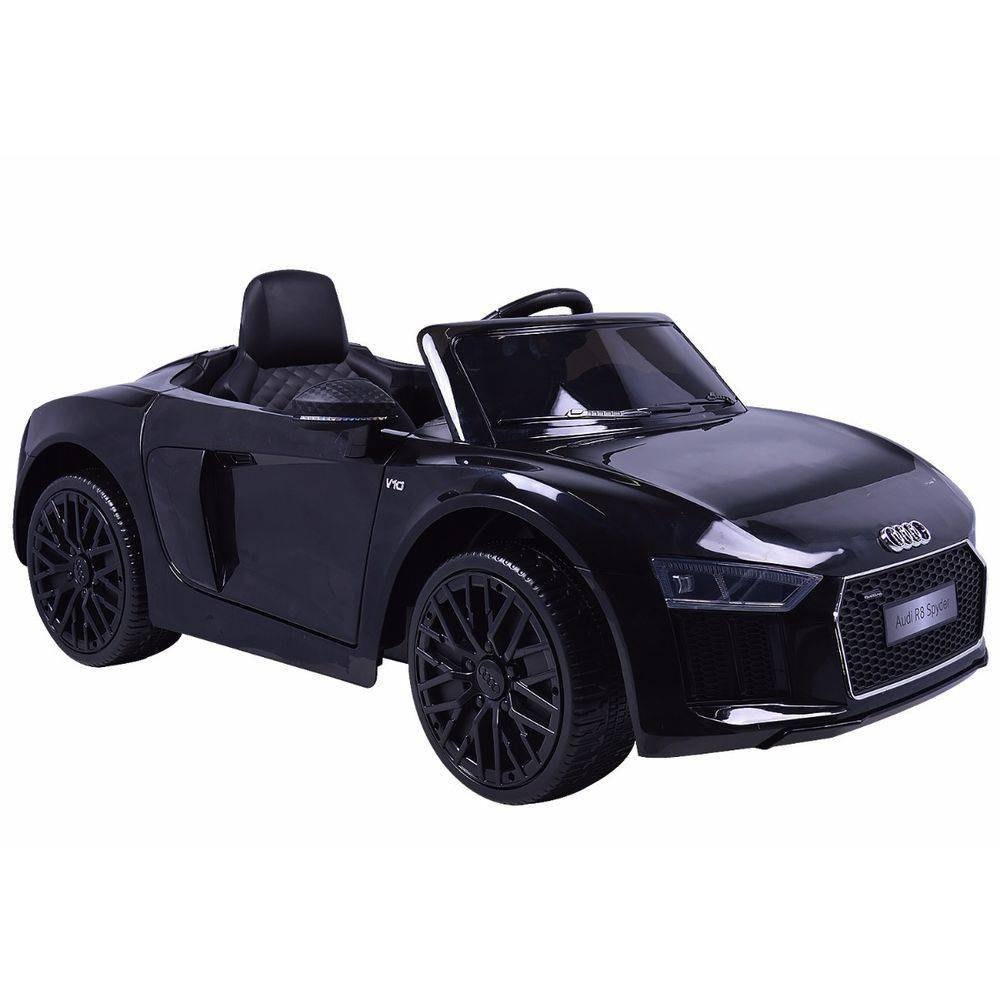 Mini Veículo Infantil Audi TT R8S Spyder (Preto) R/C 12V - Belfix