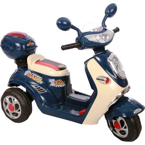 Moto Lambreta Elétrica Infantil 6v Azul / Bege - Belfix