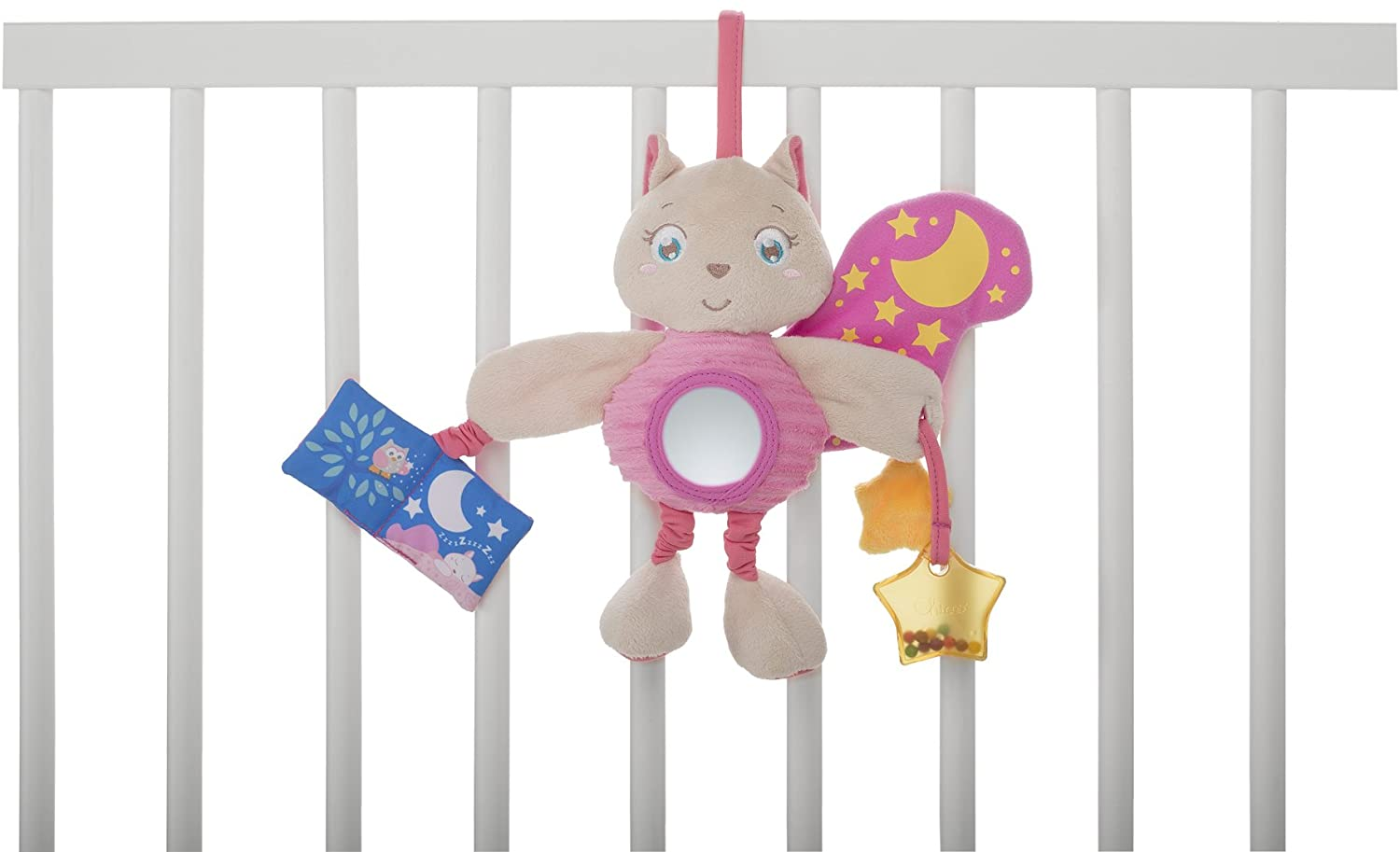 PAINEL ESQUILO ROSA SOFT CUDDLES - CHICCO