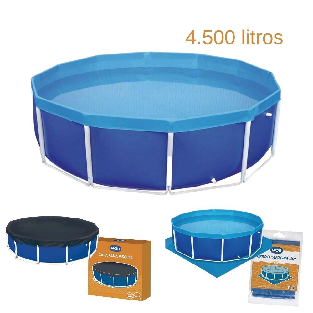 Piscina Circular Premium com capa e forro 4.500 l - MOR