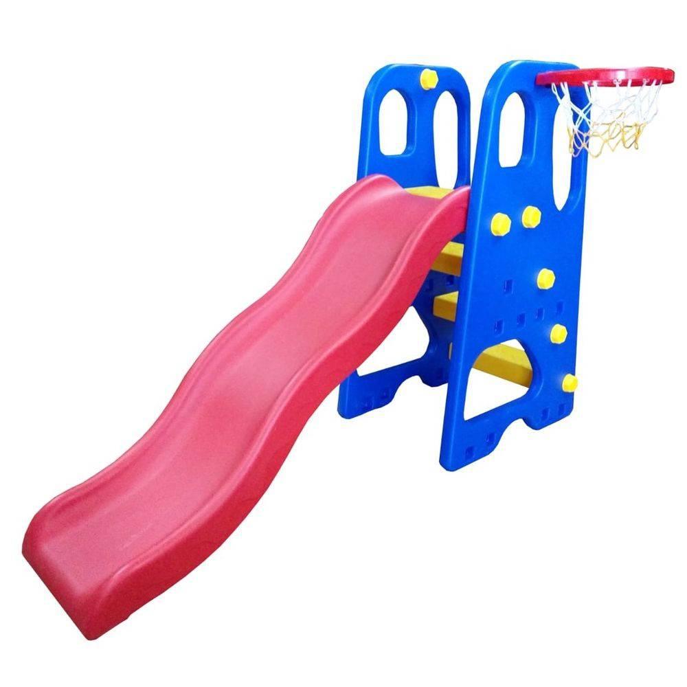 Playground 2 em 1 Escorregador e Cesta de Basquete - Importway