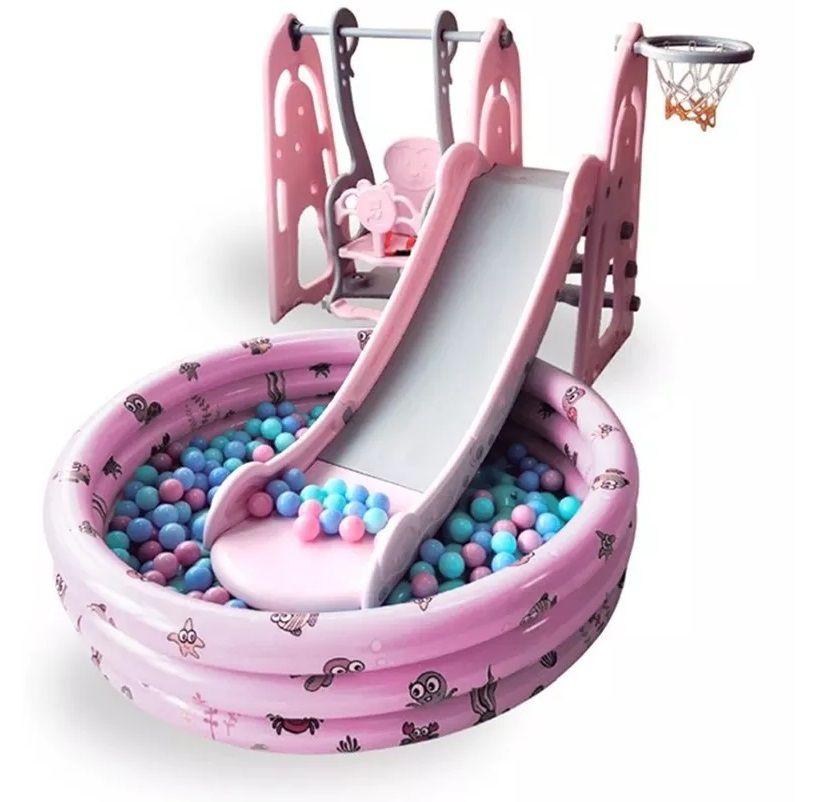 PLAYGROUND INFANTIL 4X1 ROSA - IMPORTWAY