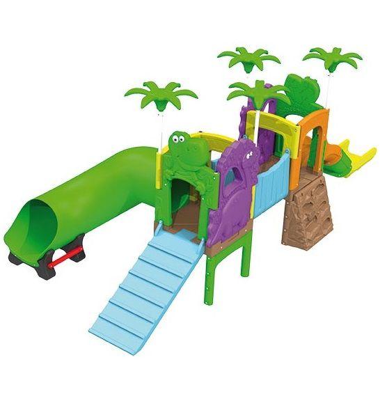 Playground Parque dos Fofossauros (Escorrega, túnel e rampa) - Xalingo