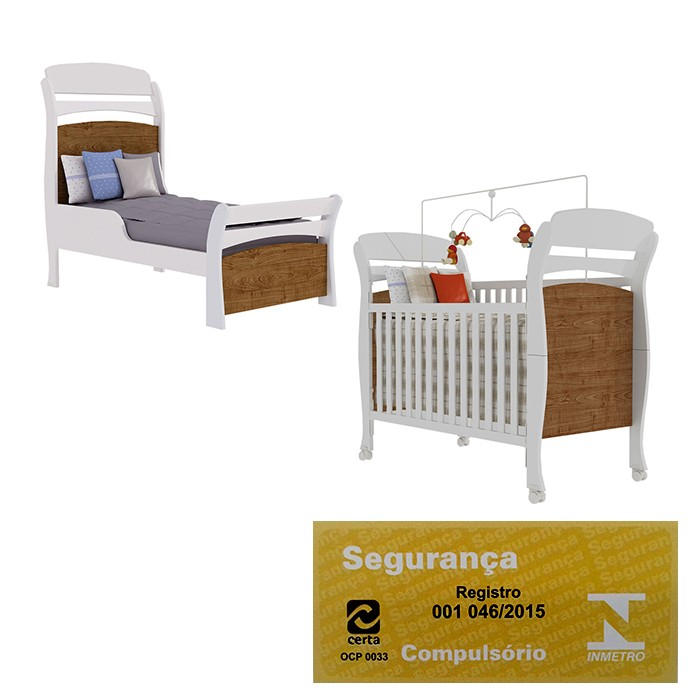 Quarto Infantil Evolution 4 Portas Imbuia (amadeirado) - Tcil