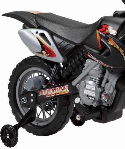 Super Moto Cross Preto 6v Farol e Buzina - Belfix