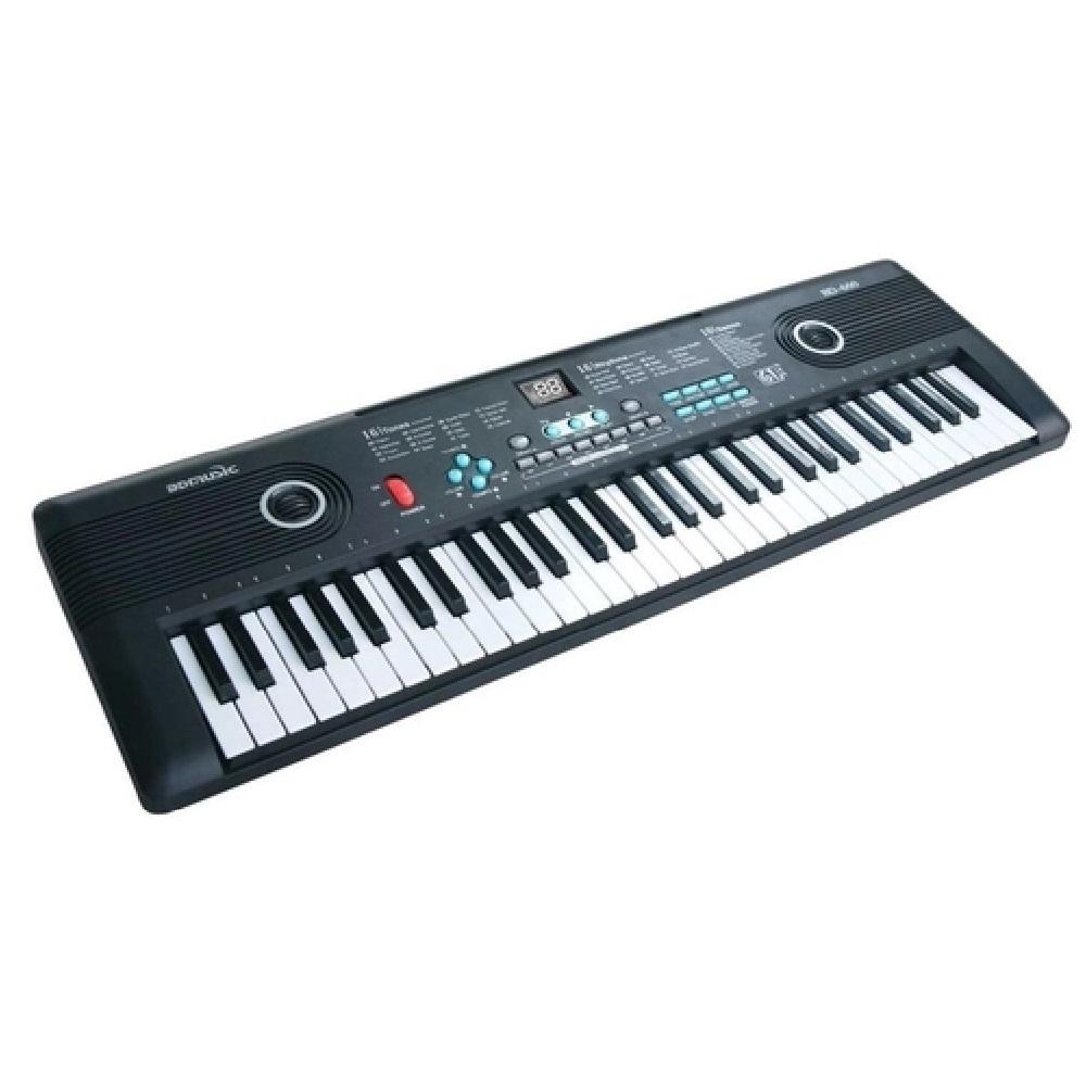 TECLADO MUSICAL 61 TECLAS INICIANTE COM MICROFONE E USB- IMPORTWAY