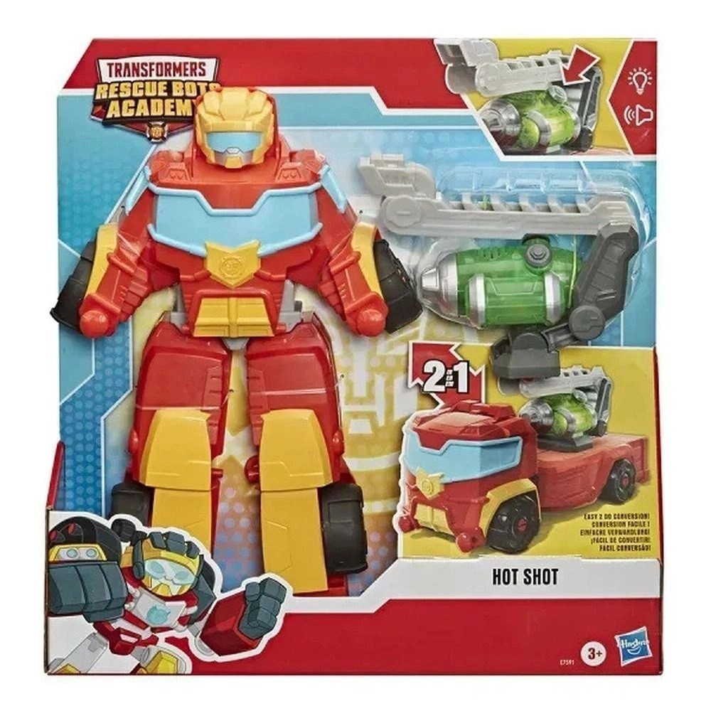 TRANSFORMERS RESCUE BOTS ACADEMY HOT SHOT (E7591) - HASBRO