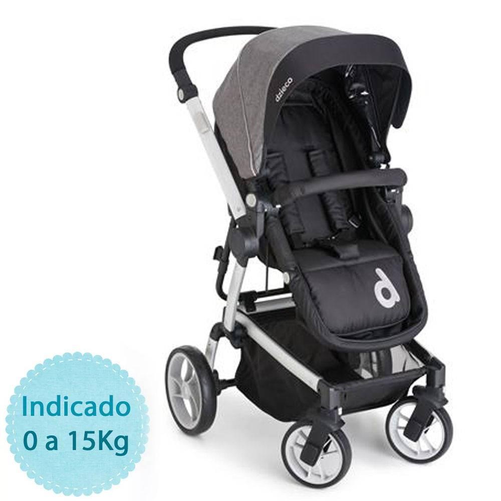 Travel System com Bebê Conforto Zolly Black (Preto) - Dzieco