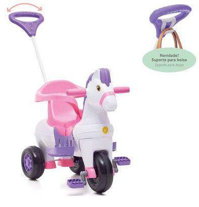Triciclo Cavalinho Potó Rosa - Calesita