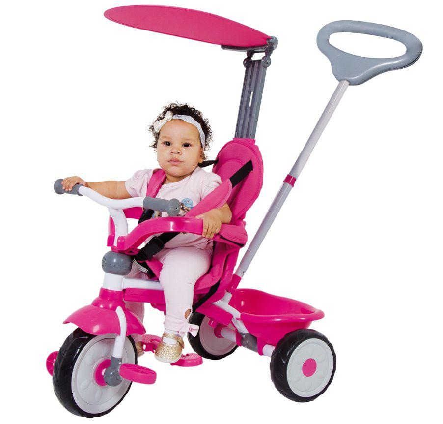 Triciclo Comfort Ride 3x1 Top Rosa - Xalingo