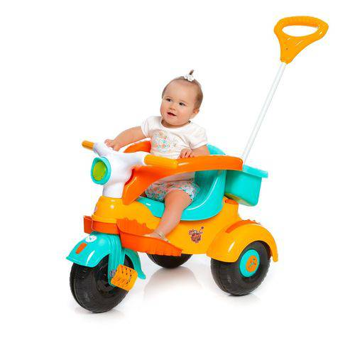 Triciclo Infantil Velocita Classic Amarelo/Laranja - Calesita