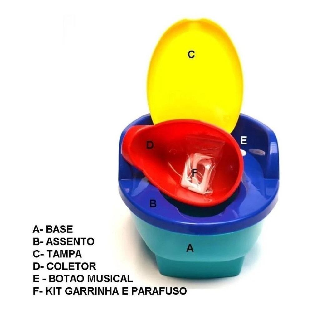 TRONINHO INFANTIL MUSICAL COM REDUTOR 3 EM 1 COLORIDO - LOVE