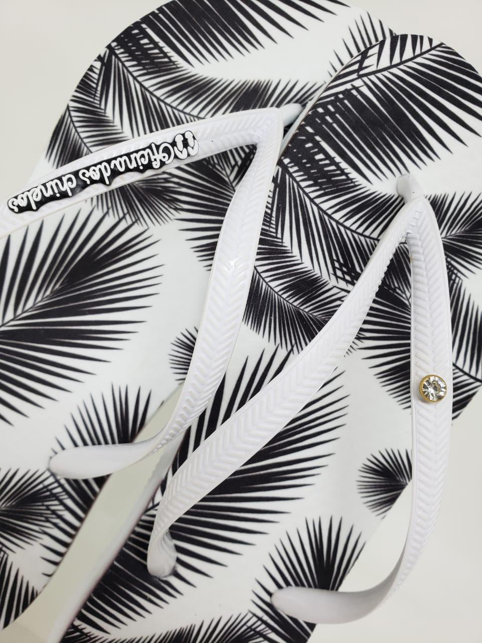 Black & White Palmeiras - Alça Branca