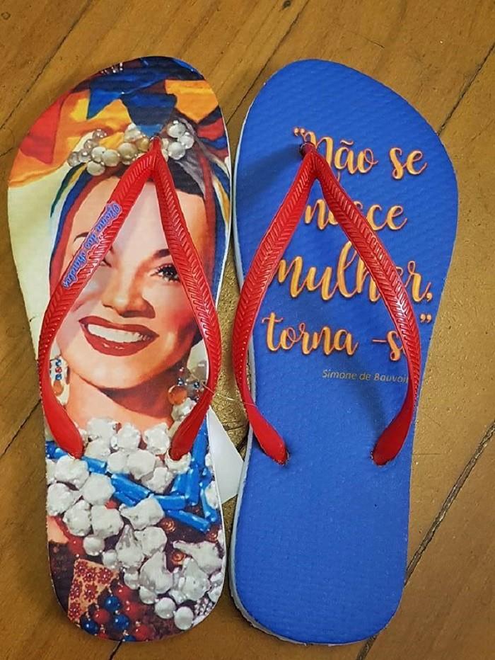 Carmen Miranda com frase