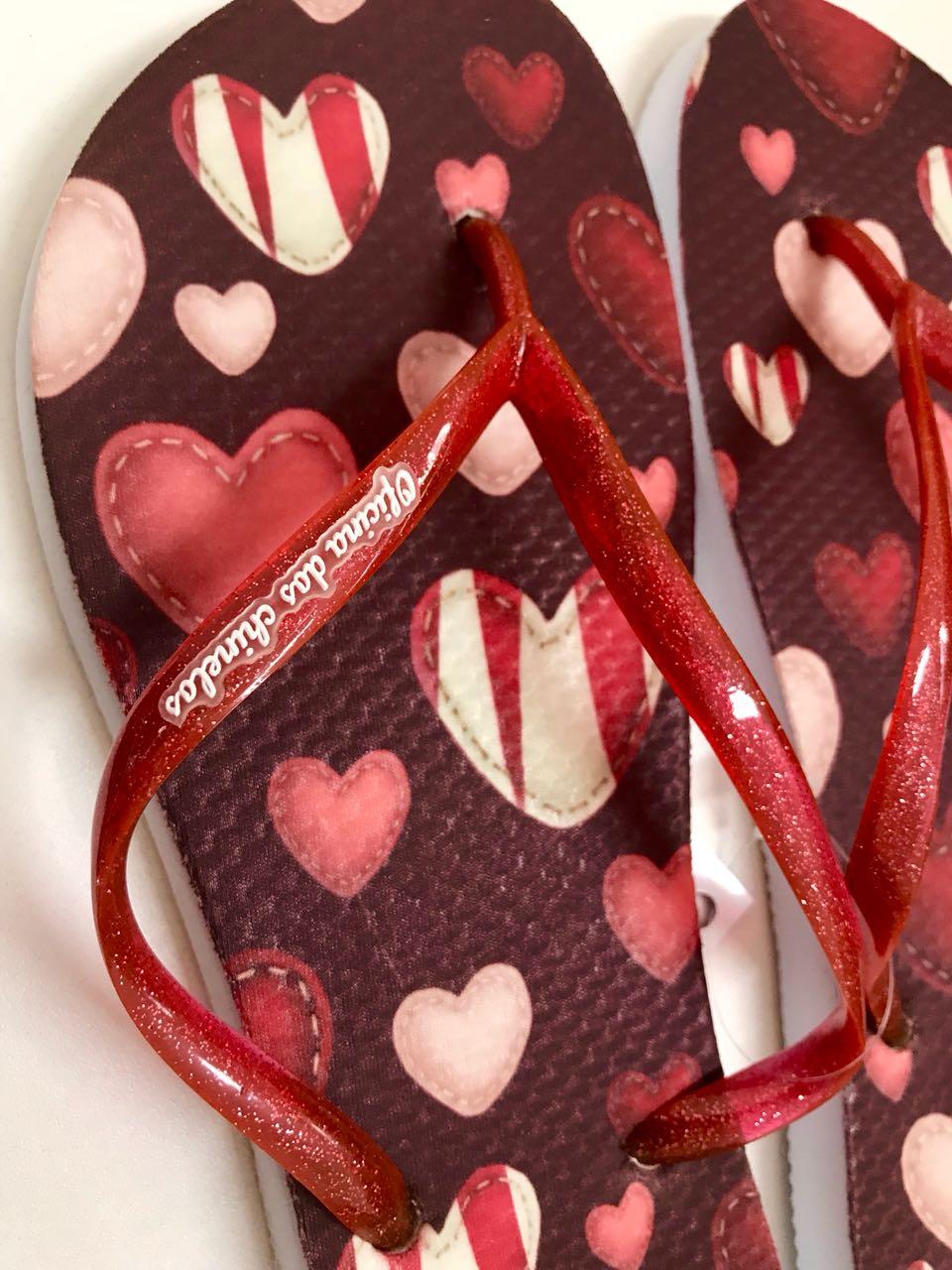 Corações bordados