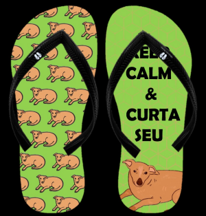 Keep Calm e curta seu vira-lata