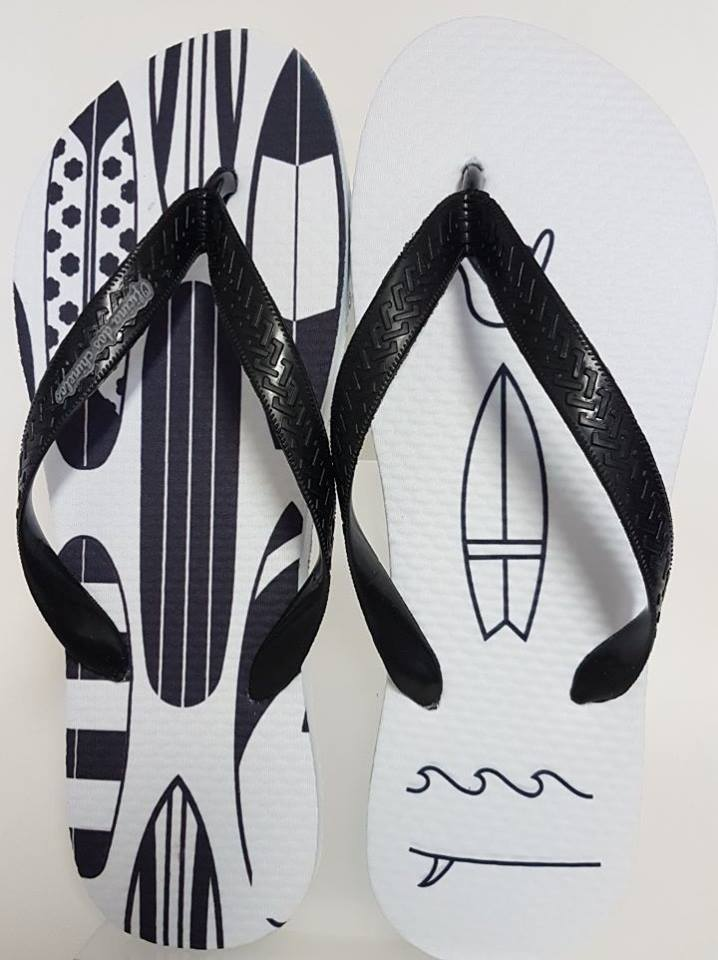 Pranchas preto e branco
