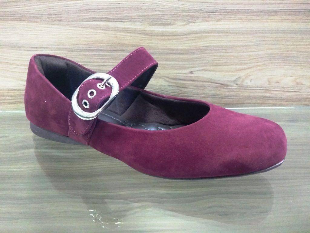 Sapato Confort Camurça
