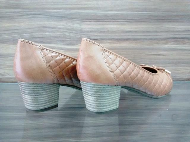 Sapato Matelassê  Caramelo