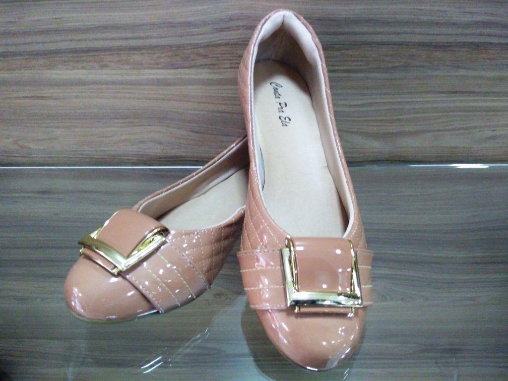 Sapato Matelassê Verniz Terracota