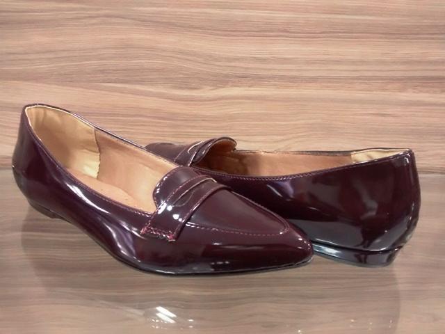 Sapato Mocassim Verniz