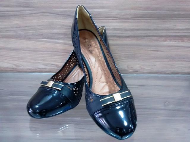 Sapato Recorte Verniz