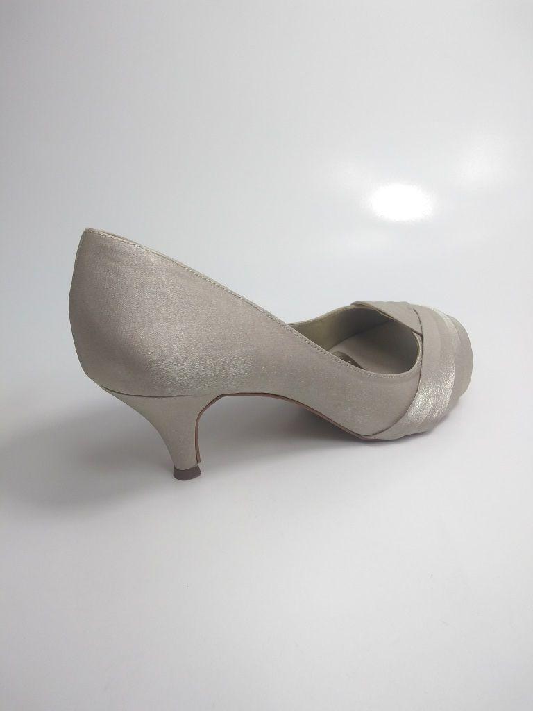 Sapato Vesuvio Prata e Champagne