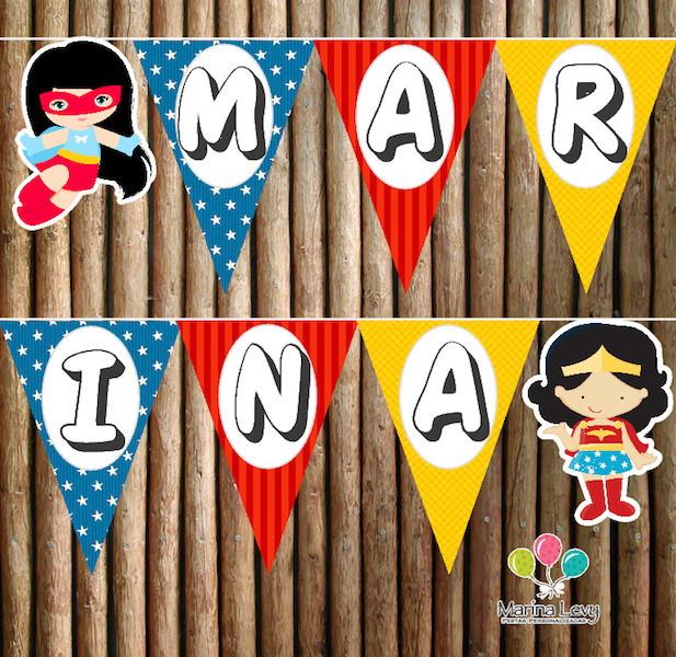 Bandeirola - Mulher Maravilha